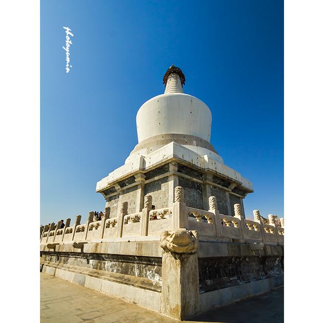 白塔,藏式喇嘛塔,北京北海公园